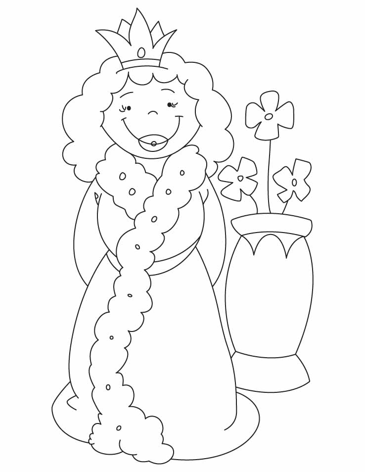 Queen And Vase Coloring Pages Download Free Queen And