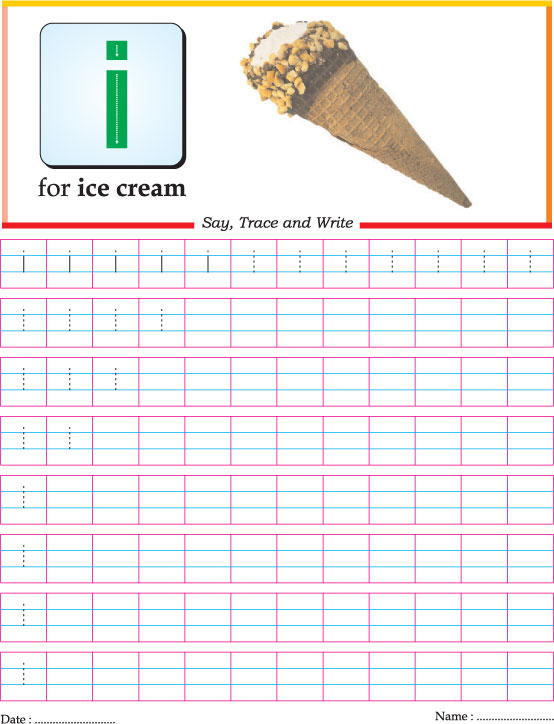 Small Letter I Practice Worksheet Download Free Small