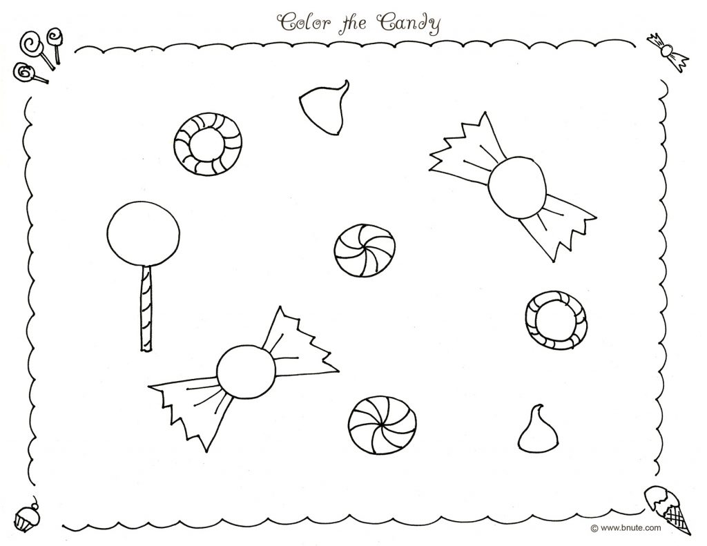 Free Printable Candyland Coloring Pages For Kids