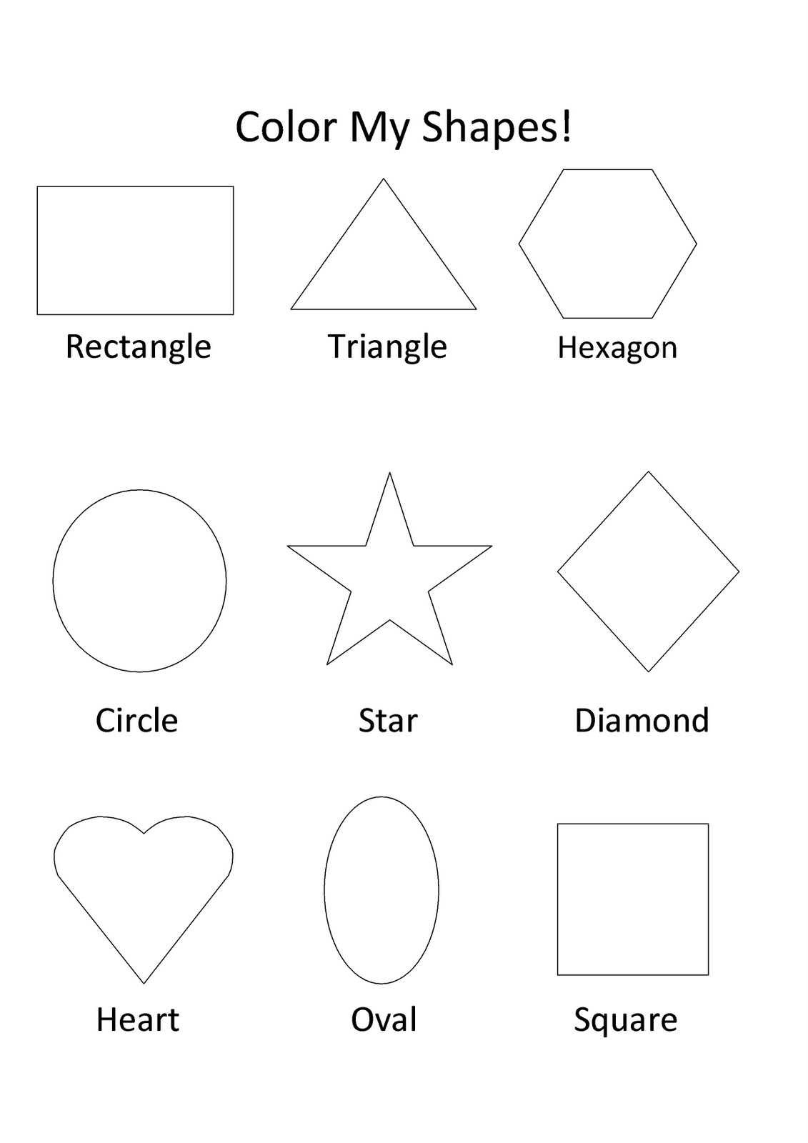 Printable Shapes For Toddlers To Learn