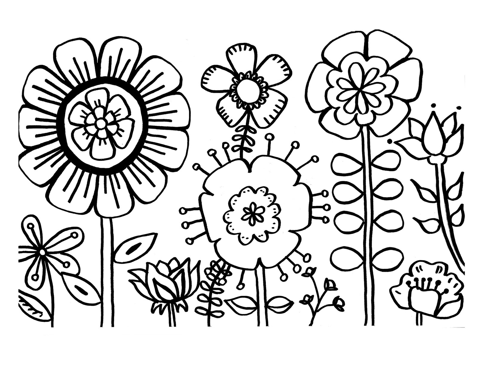 Printable Flower Coloring Pages For Girls   Novocom.top