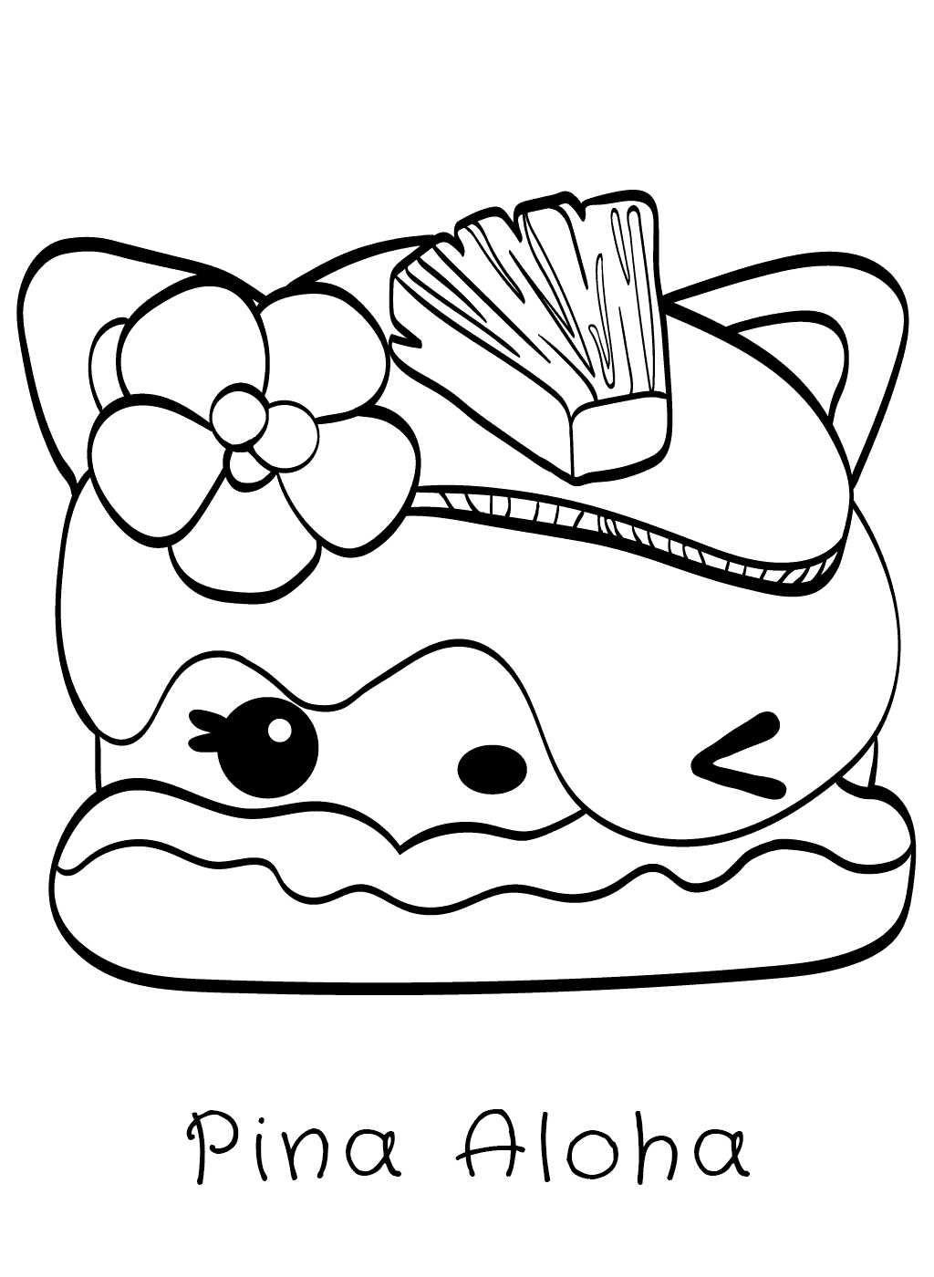 Num Noms Cute Food Coloring Pages Novocom Top