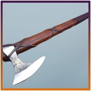 23 Inches Long Tomahawk Axe, Cowhide Leather Sheath.
