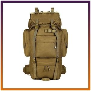 65L Military Tactical Water Resistant Backpack Climbing Bags Molle Bag