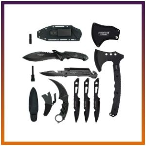 Blade Factory'stactical Set Full Tang Fixed Blade Knife.