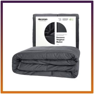 Deconovo 100% Cotton Heavy Blanket Filled With Glass Beads.
