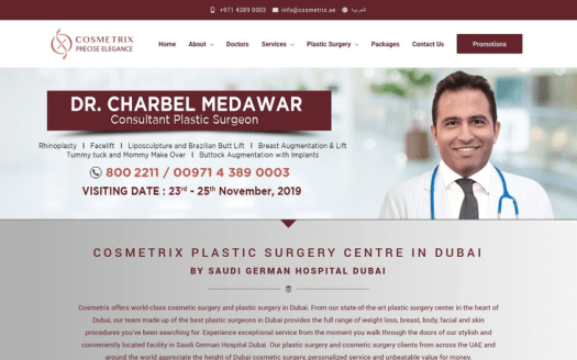 Cosmetrix Plasic Surgery Centre Dubai