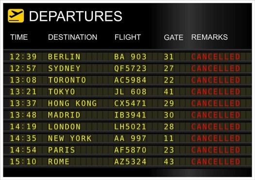no flights