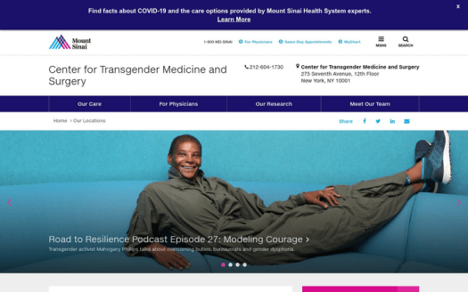 Center for Transgender Medicine & Surgery New York USA