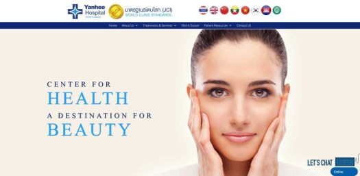 Yanhee Hospital Health & Beauty Bangkok Thailand