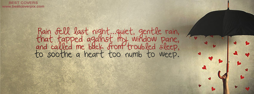Best Rain Quote Facebook Timeline Cover Photo