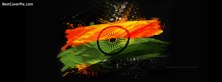india abstrast flag cover fb