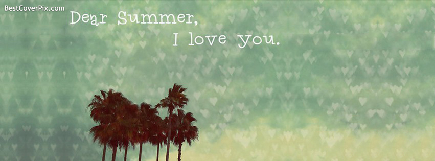 dear summer i love you fb cover