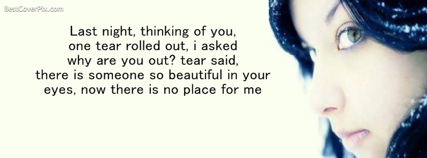 tears fb cover photo quotes