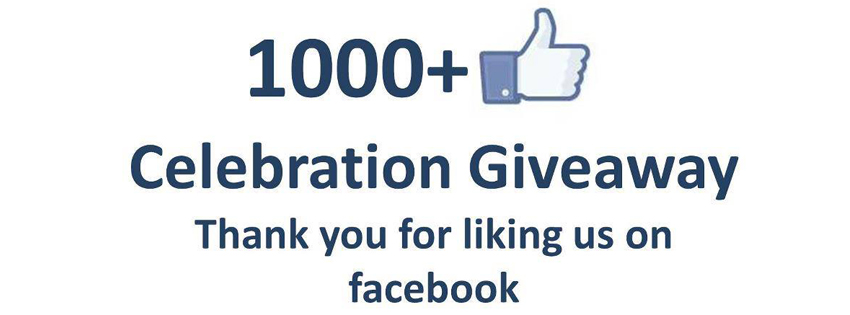 1000 Likes on Facebook Celebration and Thanks to Fans