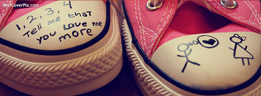 Love in Joggers Shoes Facebook Cover