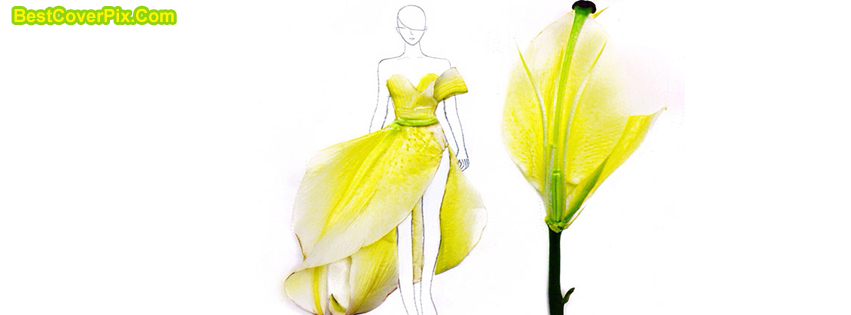 Fashion for summer Yellow Dress Cover for Facebook
