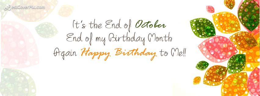 october happy birthday to me birthday fb cover