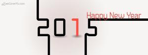 Stylish like puzzle 2015 happy New Year wish facebook cover