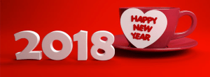 Romantic New Year 2018 Facebook timeline cover Red girls couple