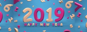 2019 Happy New Year Facebook Cover