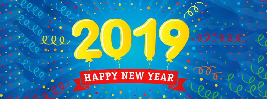 Happy New Year 2019 Wishing facebook Cover pic