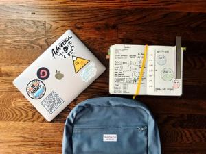Notebook, pencil and bag - pack your essentials for college move