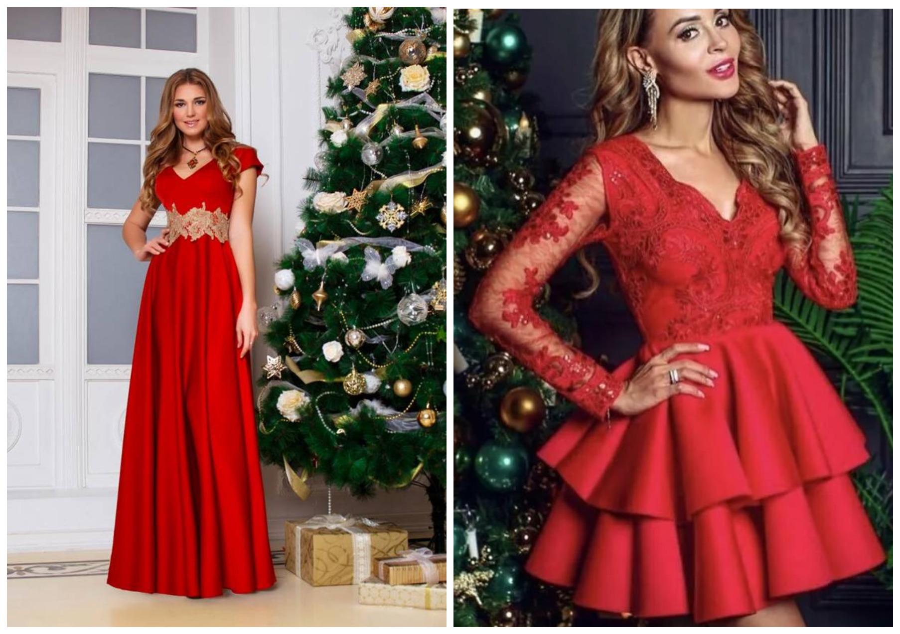 Meninas em vestidos de Natal