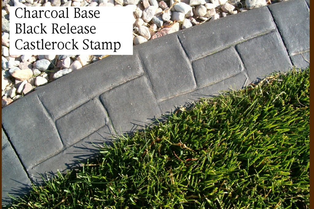 Base-  dark charcoal  Release- dark grey Stamp- castlerock curb