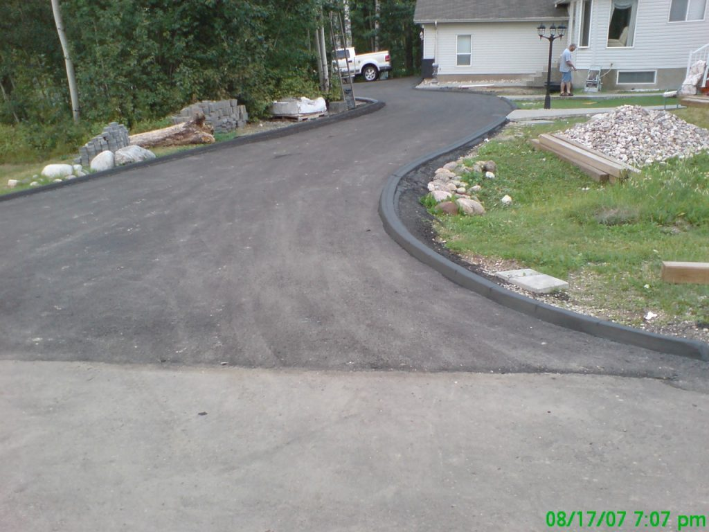 pinned on asphalt customer will build in lawn area