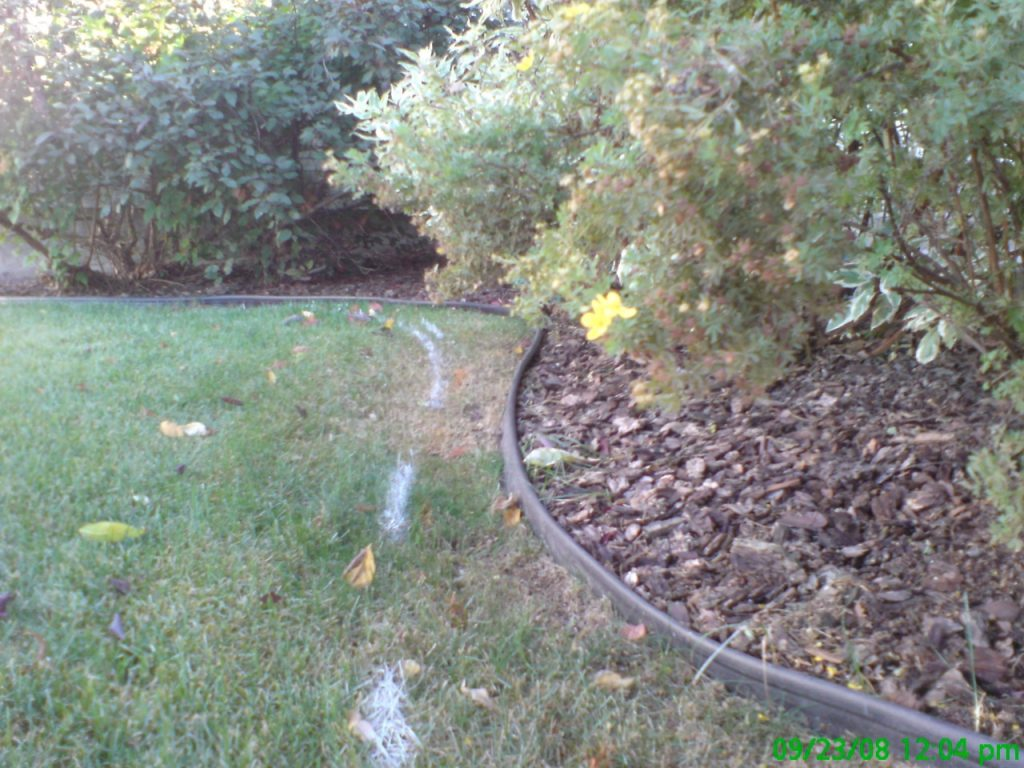 replacing plastic edging- typical curb  job