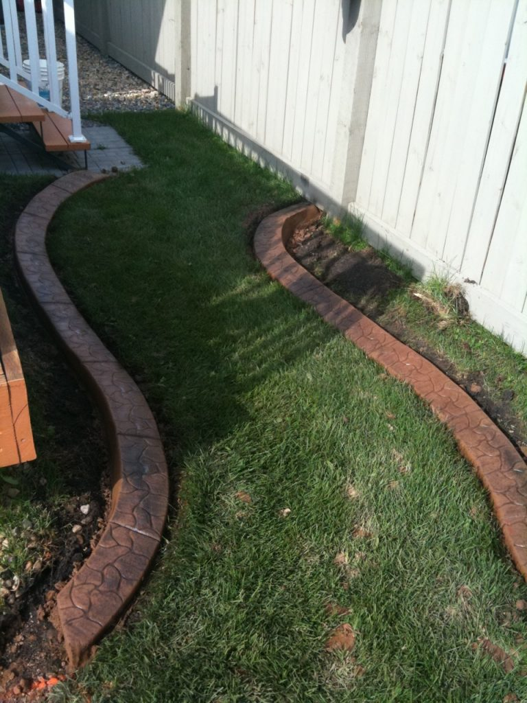 another creative little path- note how we cut off the curb for a transition to a different material.