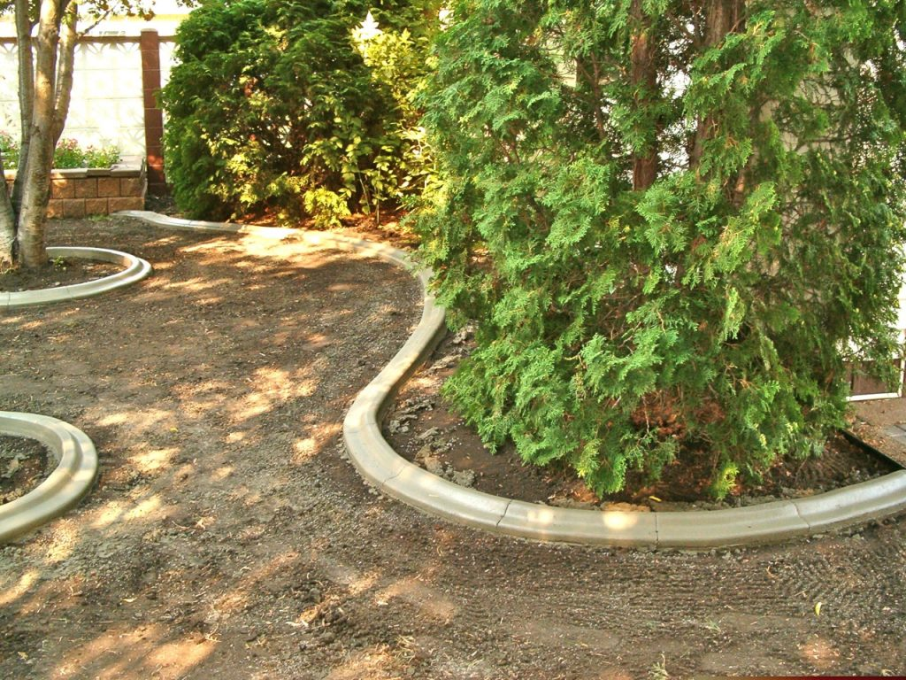 nice shapes created with curb