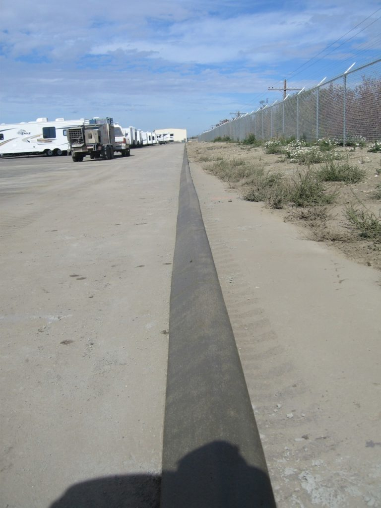 5X6 pinned on asphalt curb a 600 foot long line