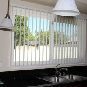 Vertical Blind in Kitchen