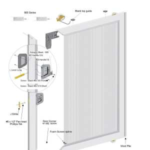 ZOOM sliding screen door schematic