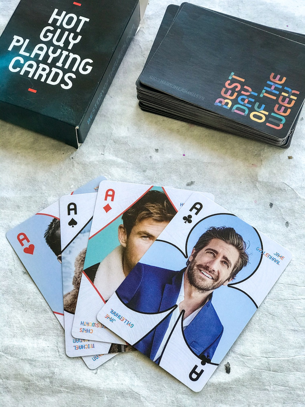 Hot Guy Playing Cards