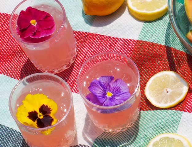 Rose Lemonade Cocktail