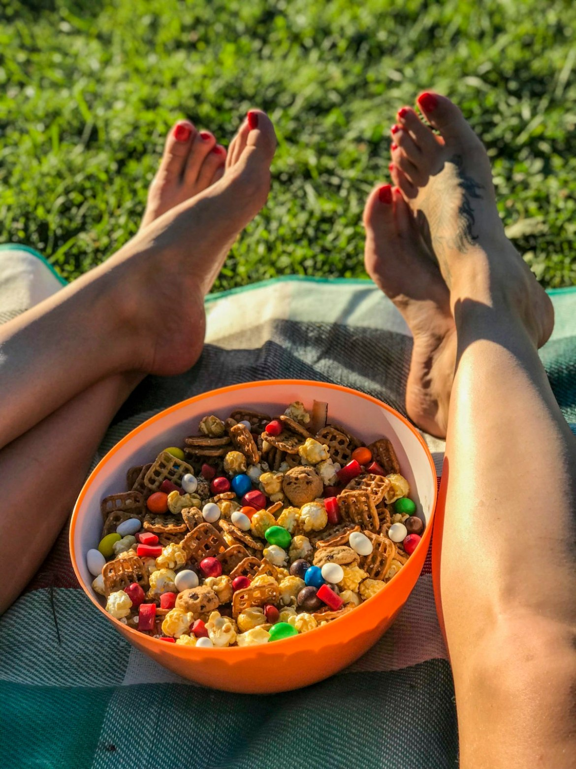 Have a Movie Night Alfresco, with the Best Snack Mix of All-Time