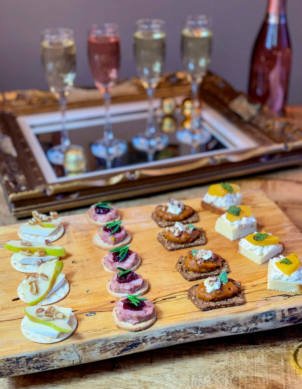 Sparkling Wine Canapes