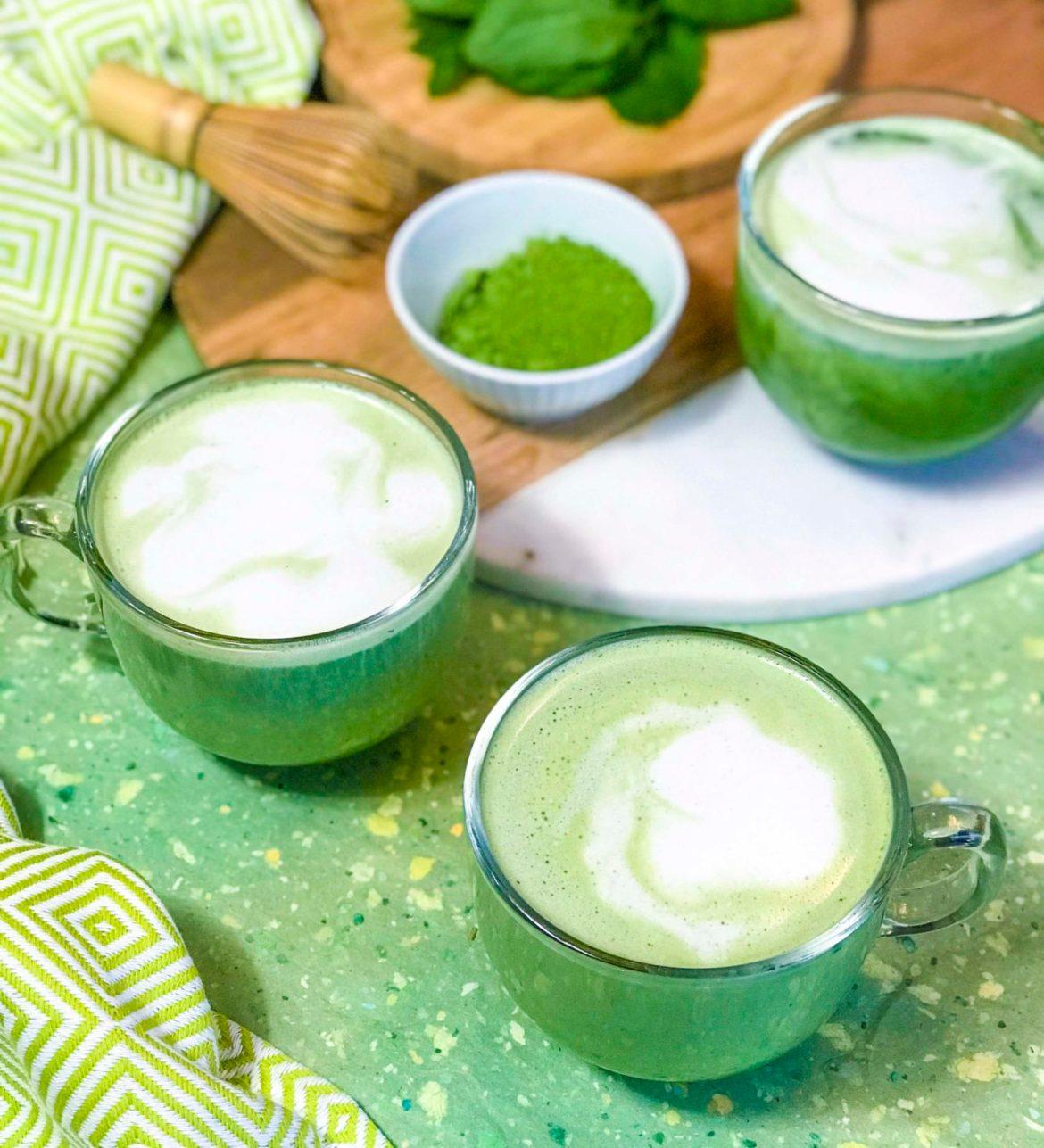 Vanilla Mint Matcha Latte