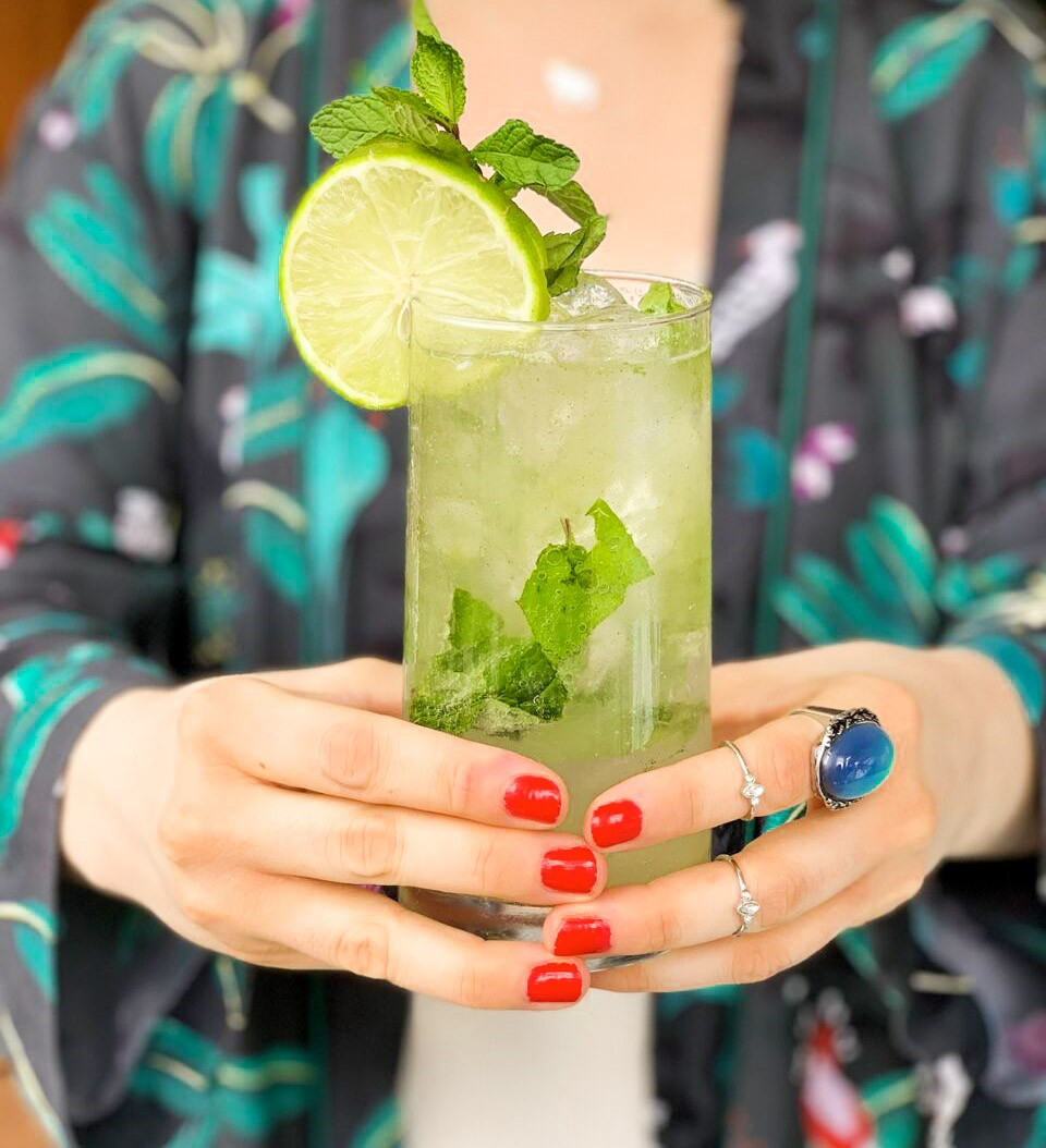 Mint Basil Sparkler Mocktail