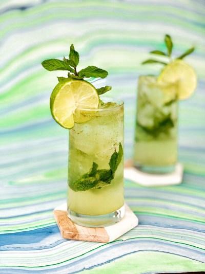Mint Basil Sparkler Mocktail