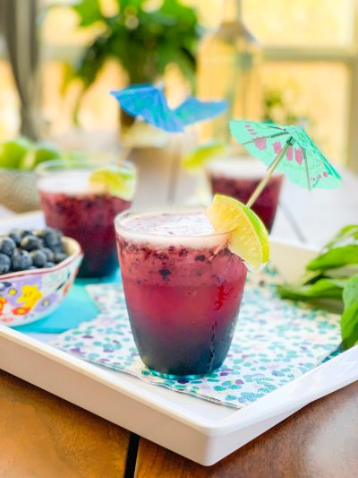 Blueberry Basil Daiquiri
