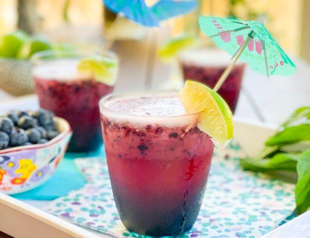 Blueberry Basil Daiquiri