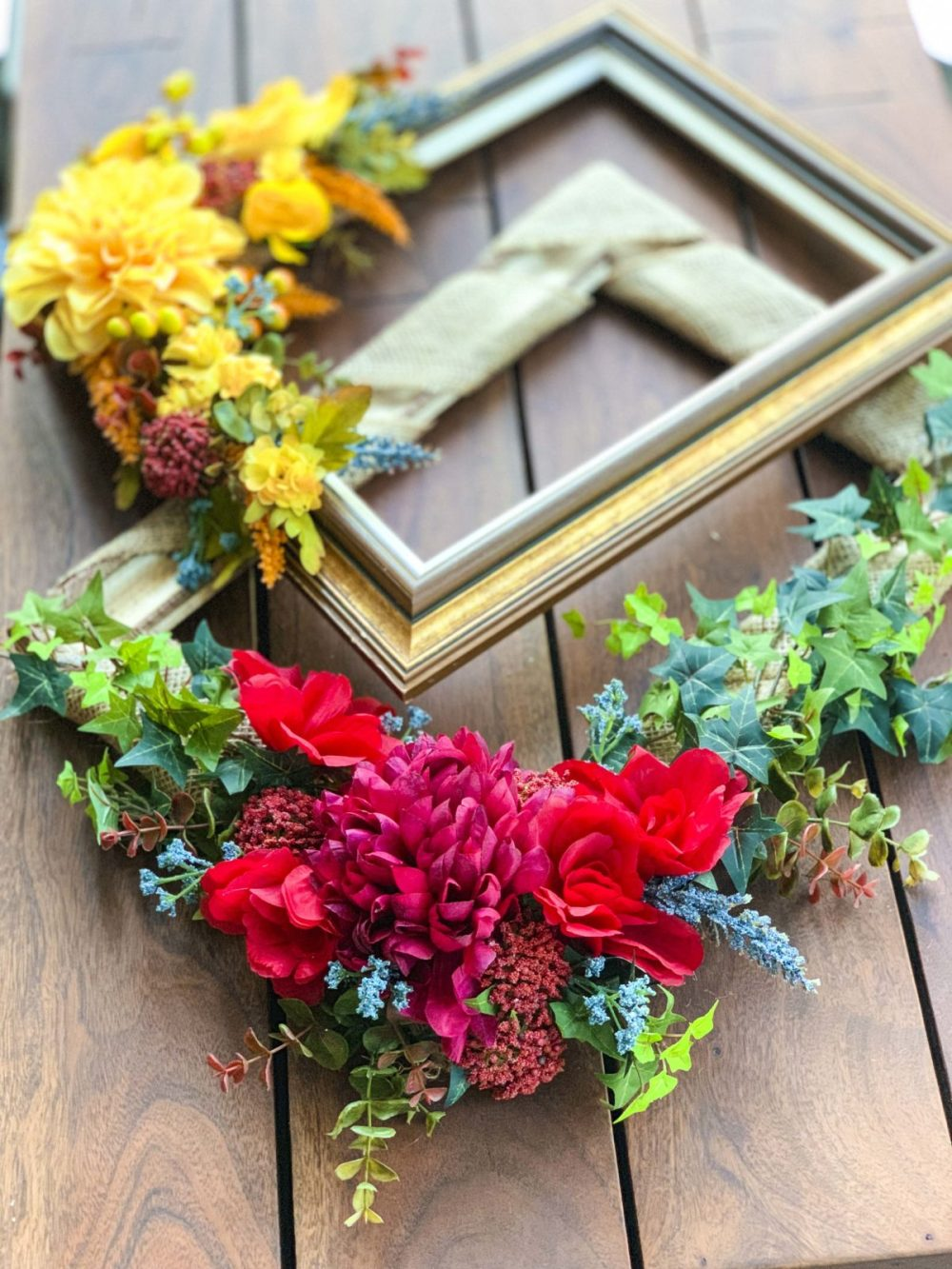 DIY Picture Frame Wreaths