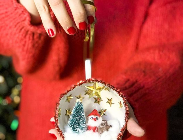 DIY Christmas Teacup Ornaments