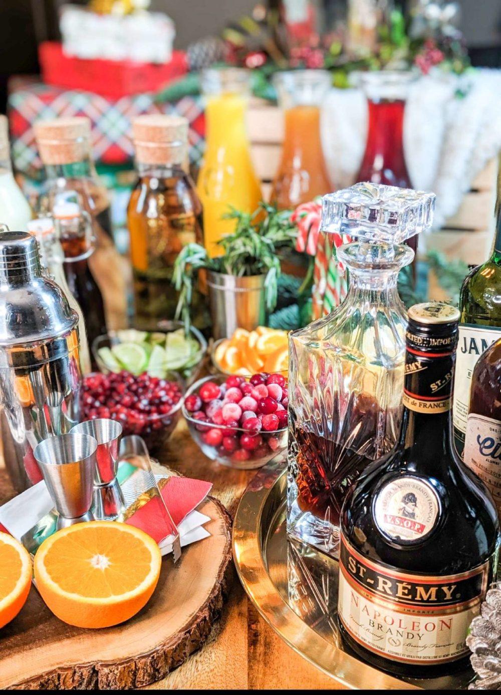 Christmas Bar Set up