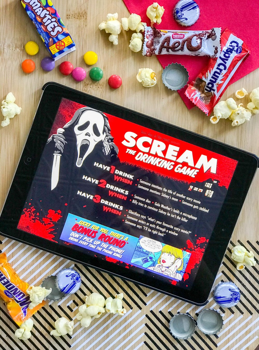 Get Tipsy With Our Scream Movie Drinking Game
