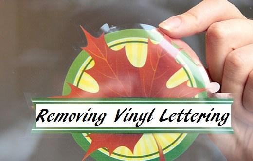 removing vinyl decals